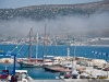 Fog over the harbour