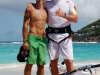 Arnaud Daniel, the event organizer and Björn at the beach  ©Chrystéle Escure 2013, St.Barth Cup 2013