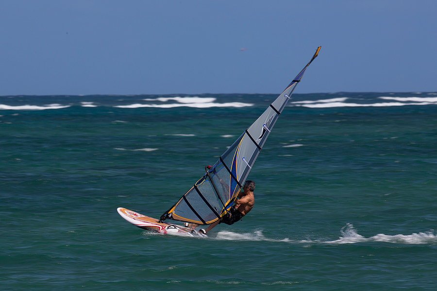 A relaxed session in the afternoon. It's great to combine work and windsurfing in one day! (Pic: Kevin Pritchard).