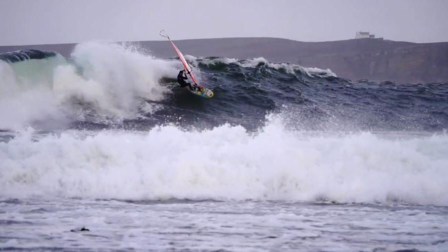 Ross with a cutback on a big thick wave