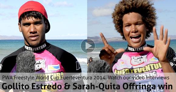 Gollito Estredo & Sarah-Quita Offringa win Fuerteventura - Interview