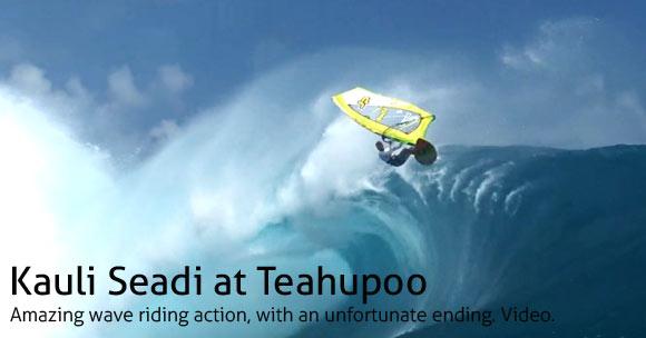 Kauli Seadi at Teahupoo
