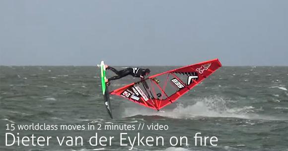 Dieter van der Eyken on fire - Video