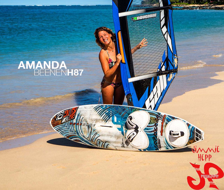 Amanda with the new gear on Maui (Pic: Jimmy Hepp)