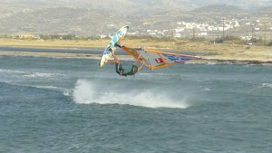 Windsurfing in Naxos at Laguna Beachpark
