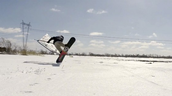 Windski & Windsnowboard Action from Canada
