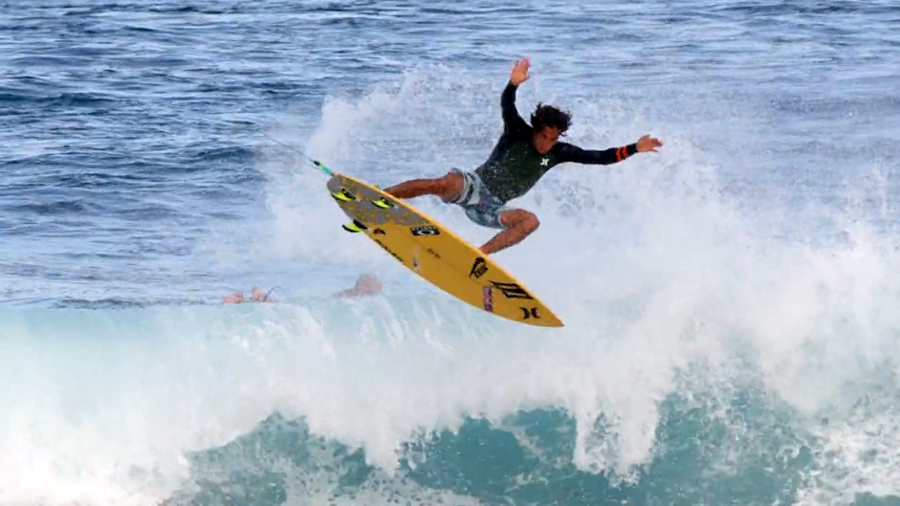 Kai Lenny with rad surfing action