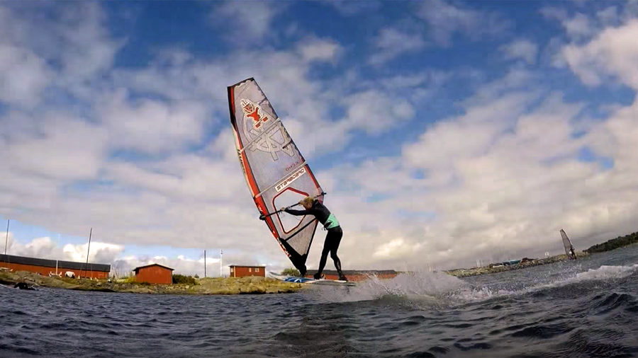 Erik Hakman with freestyle action