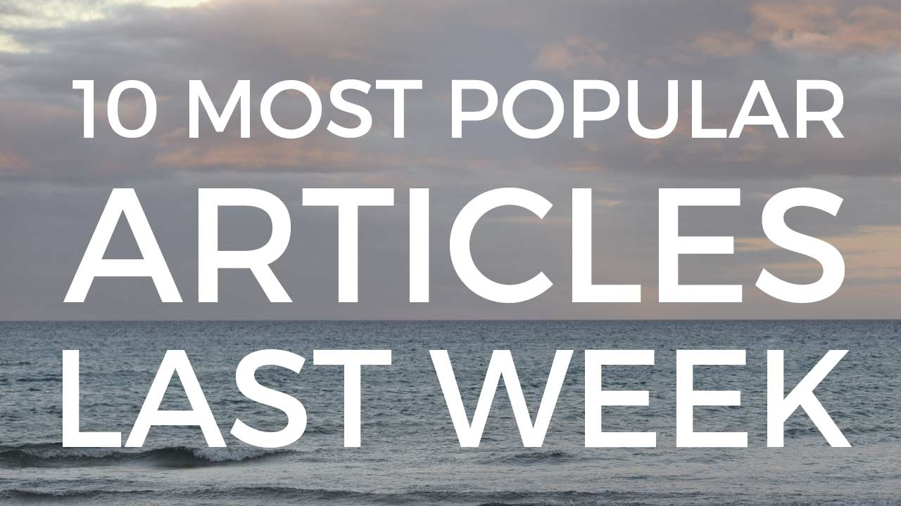 Most popular articles last week