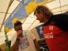 Antoine Albeau getting interviewed by Robert Hoffmann