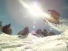 Jonas Ceballos snowboarding in Andorra