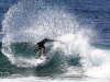 Massive spray after a cutback by Robby Swift - Pic: PWA/John Carter