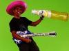 Tonky making fun in the green box - Pic: PWA/John Carter