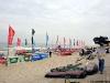 Equipment area on the beach
