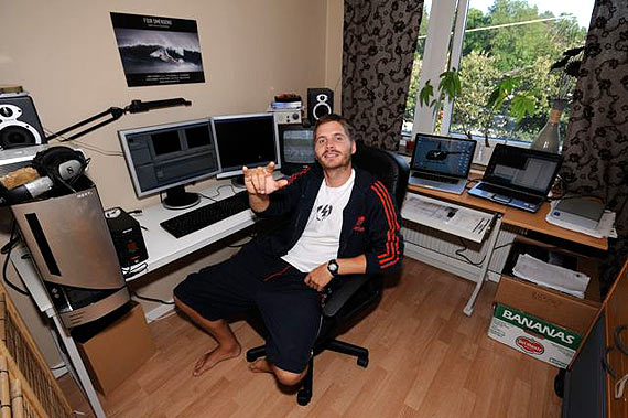 Peter Svensson in his editing office