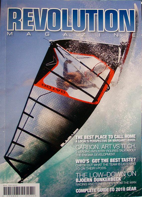 The Revolution Magazine cover (Severnesails 2010).