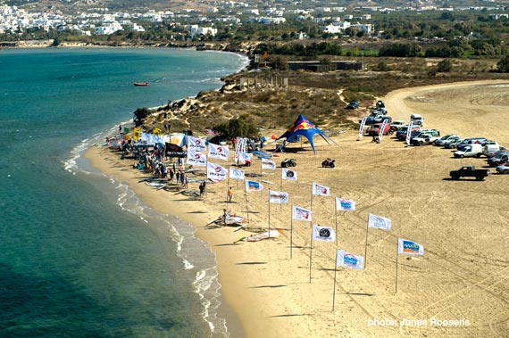 From the bird´s perspective on the Naxos event site (Pic: Jonas Roosens)