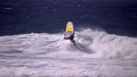 Mark Angulo lands a clean clew first Mutant at Ho'okipa