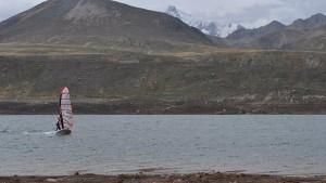 Peru lake windsurfing