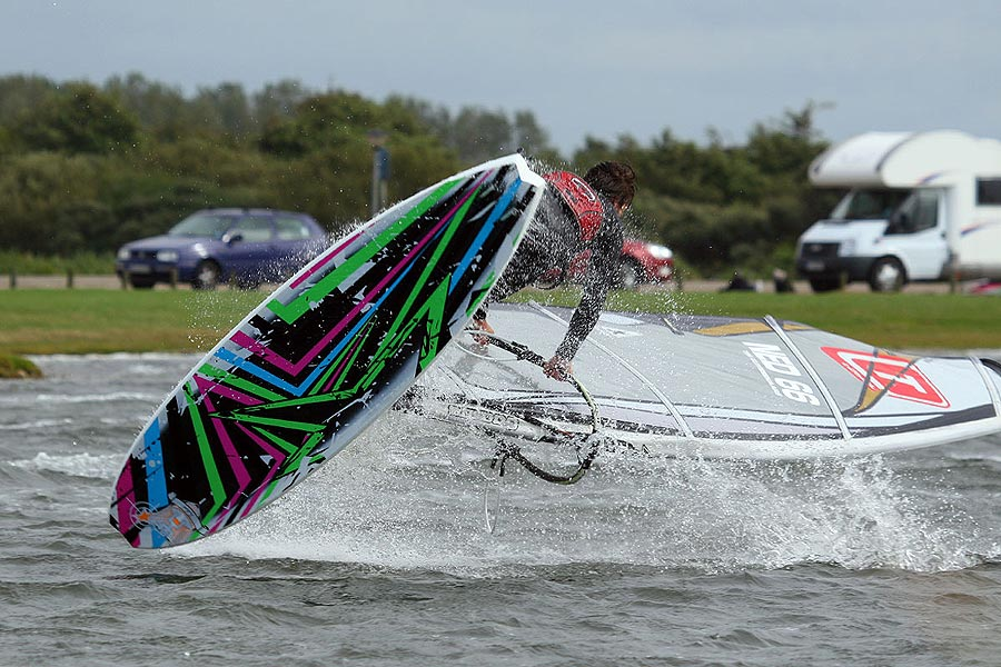 Flat water freestyle action by Tim.