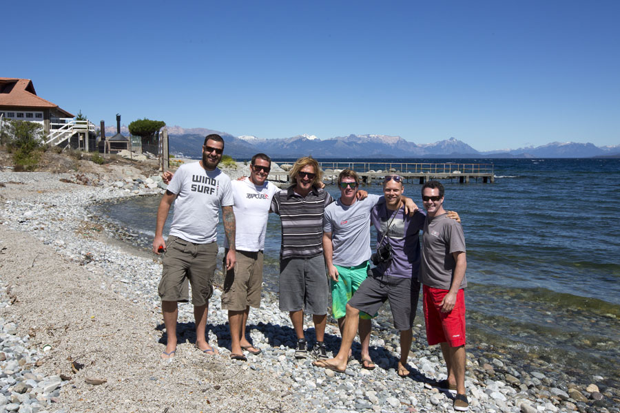 The whole team at Bariloche, Nahuel Huapi. Stefan at the left side of the group (Pic: John Carter).