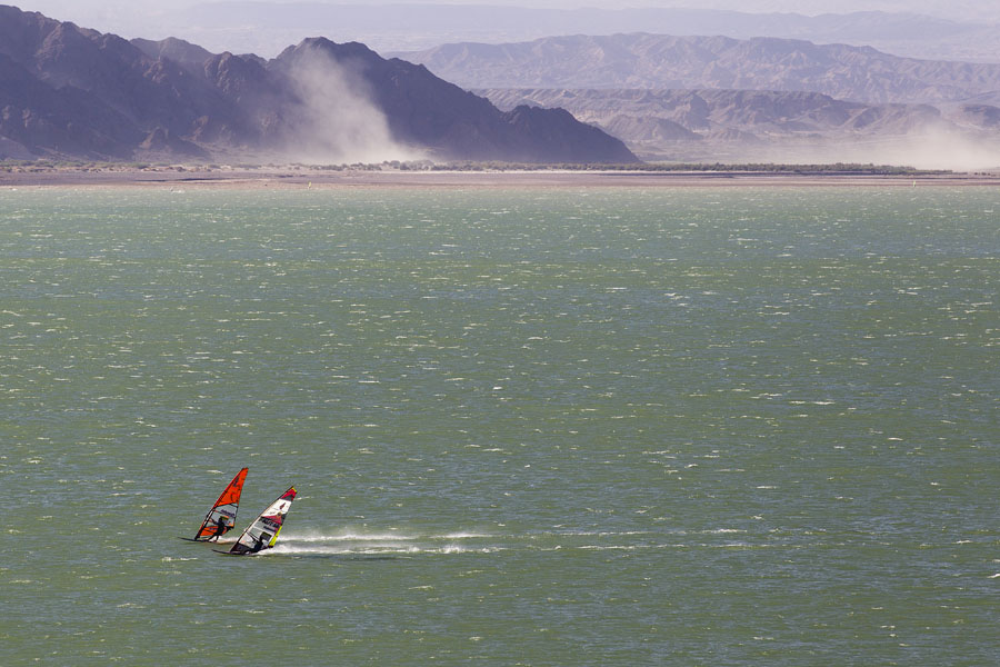 The boys had fun at Cuesta del Viento, where the wind can get really strong (Pic: John Carter).