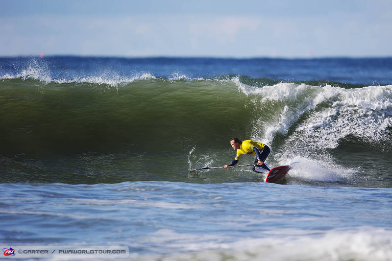 Dany Bruch, the winner of the SUP wave competition