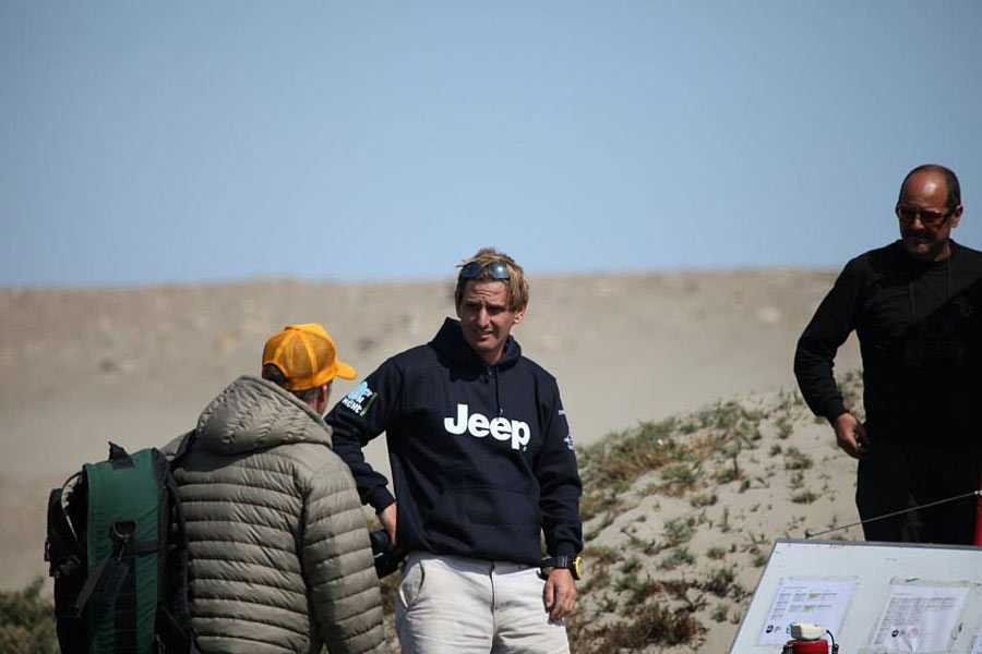 Chris and Kevin Pritchard in a conversation at Pacasmayo, Peru