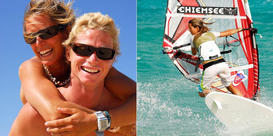 Laure and his boyfriend Simon at Fuerteventura - Pic: CONTINENTSEVEN