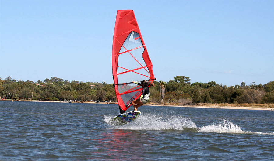 Cool freestyle action at the lake.