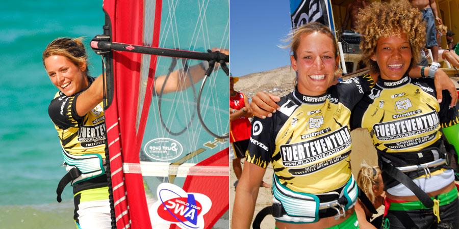 Sarah Quita Offringa and Laure Treboux at Fuerteventura 2006 - Pic: CONTINENTSEVEN
