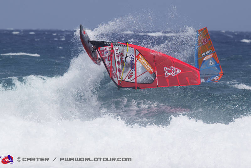 Dany at his home spot during the PWA World Cup