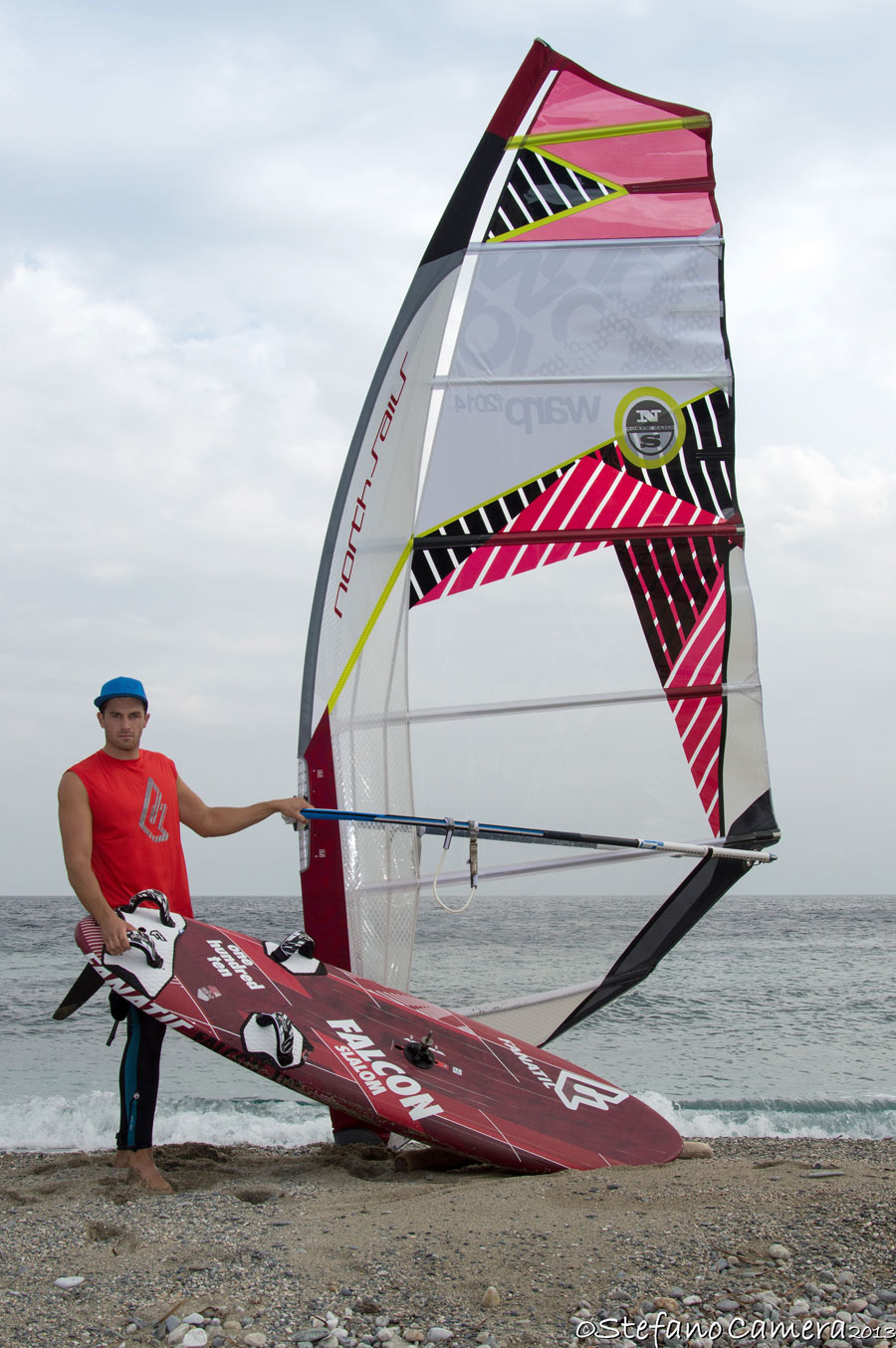 Matteo with his new gear (Pic: Stefano Camera)