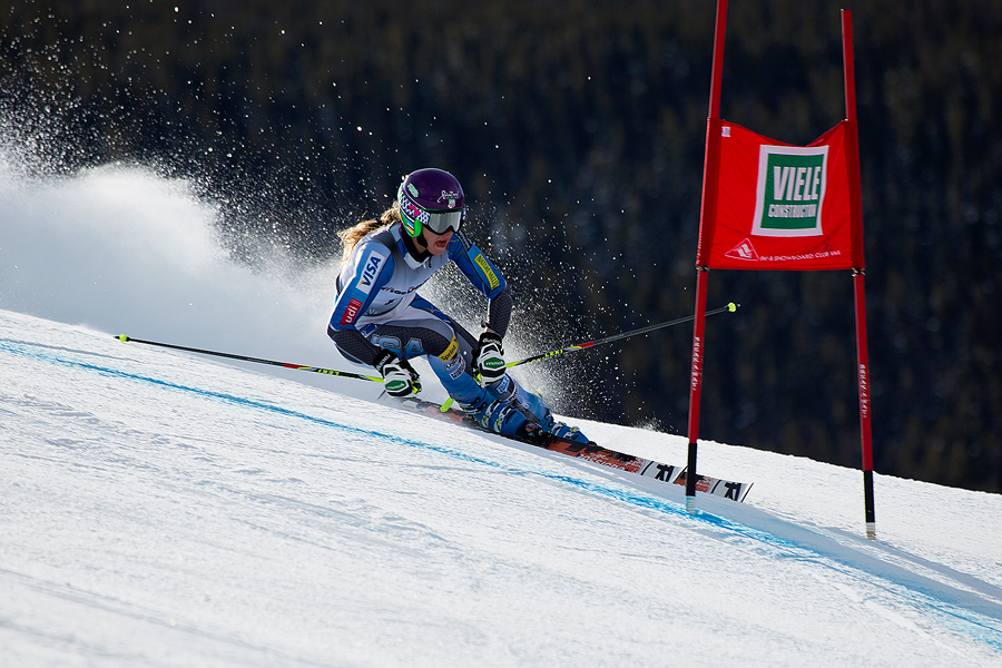 Fast giant slalom action (Pic: Kevin Pritchard)