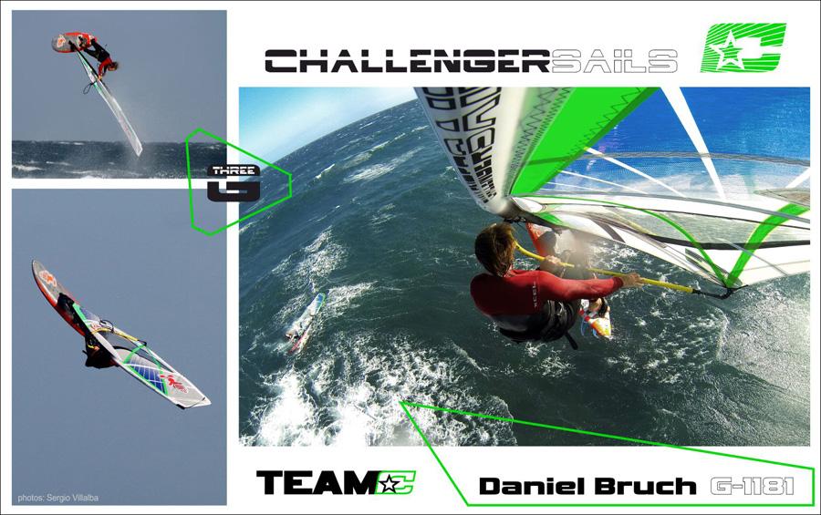 Dany already tested his new sails at El Cabezo