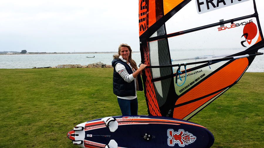 Delphine Cousin with her new  Racing Blade