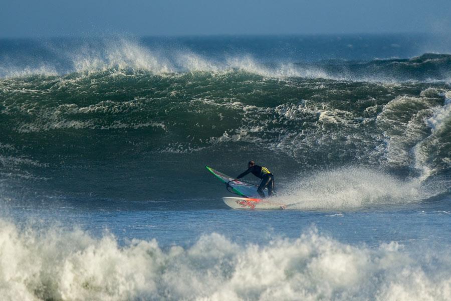Kevin with a big Bottom Turn at Punta San Carlos