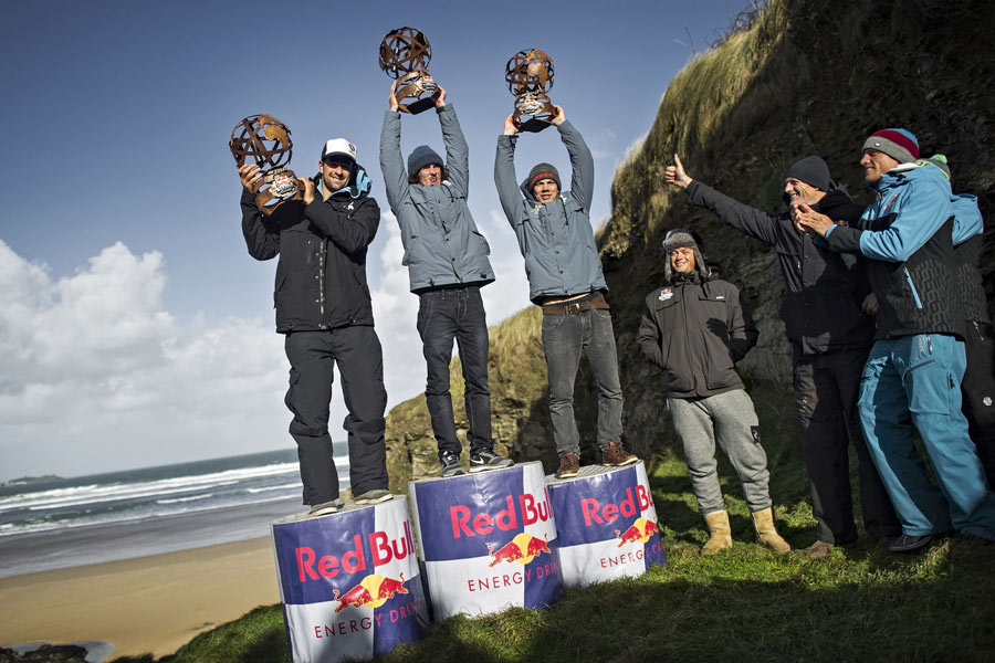 The winners of the Red Bull Storm Chase - Pic: Simon Crowther/Red Bull Contentpool