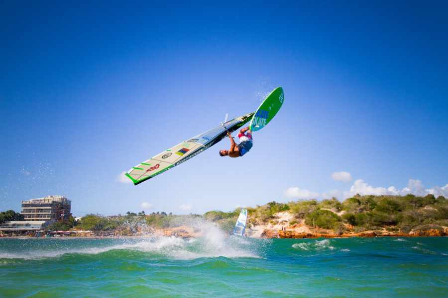 Gollito doing a Backloop on a windy day in El Yaque - Pic: Tom Brendt