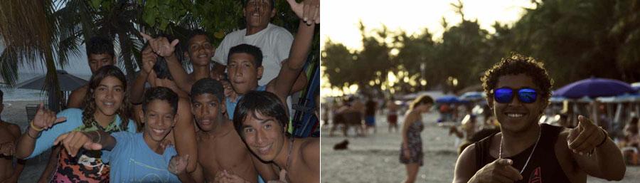 Local kids and Hugo