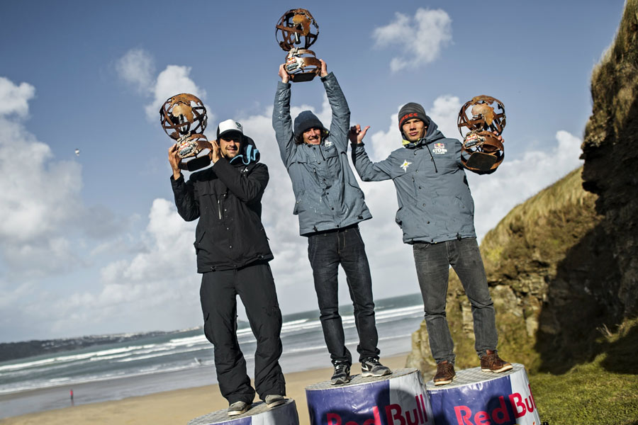 The top three of the Red Bull Storm Chase - © Sebastian Marko/Red Bull Content Pool