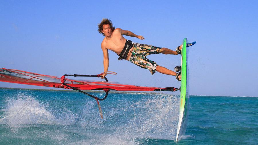Bonaire is a freestyle paradise, even for Dieter (Pic: Markus Seidel)