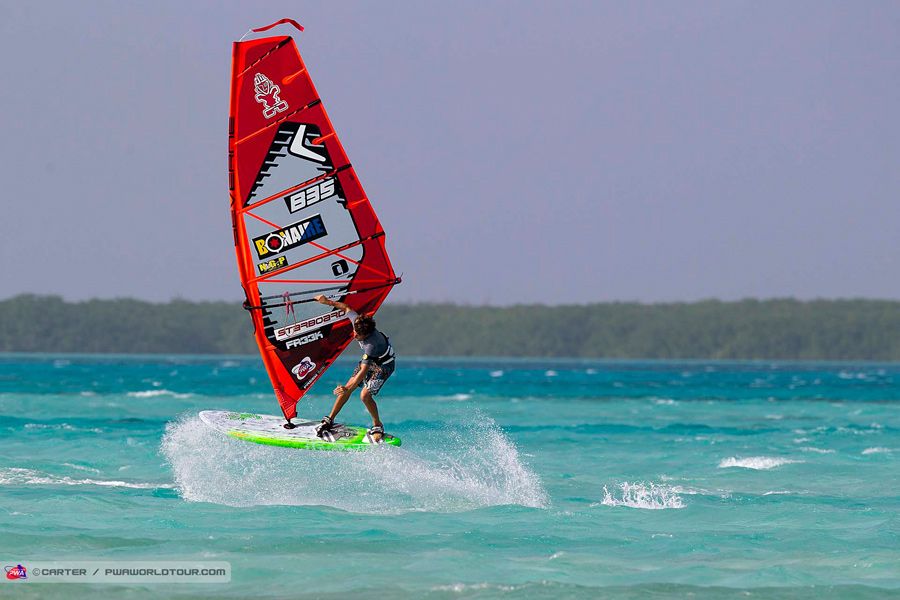 Dieter on form at the first event of the season (Pic: PWA/Carter)