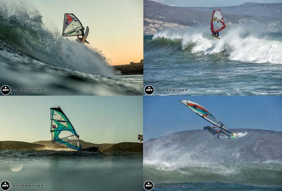 Kevin Pritchard, Morgan Noireaux, Sarah Hauser & Bernd Roediger at Punta San Carlos (Pic: SImon Crowther).