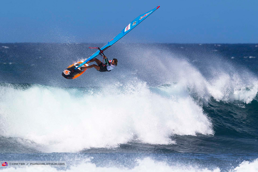 Iballa Moreno with World Champion style (Pic: Carter/PWA
