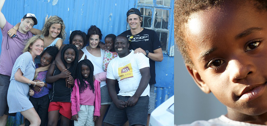 """The """"Mon Coeur"""" crew with their new friends in Cape Town"""