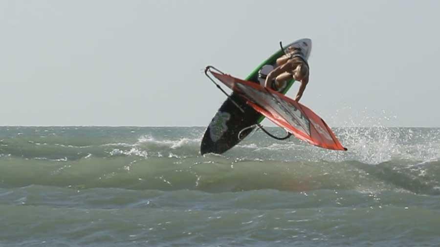 Oda Johanne windsurfing in Brazil