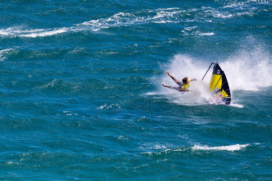 Sarah-Quita crashing hard - Pic: PWA/John Carter