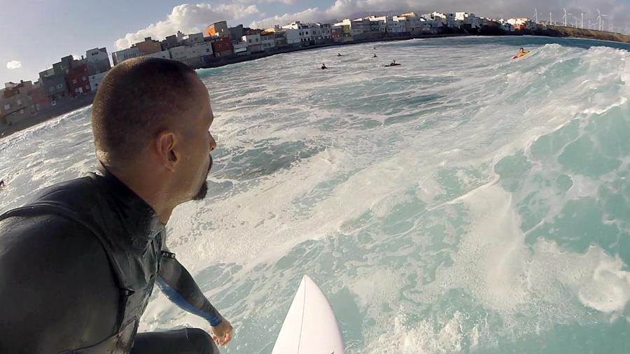 Dario surfs waves at Pozo Izquierdo