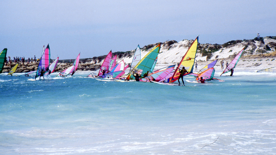 A shot from the first Lancelin Ocean Classic back in 1986 (Pic: Simon Rackleft)